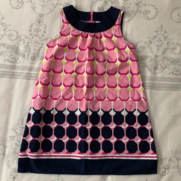 Gymboree Bright Ideas Geo Print Dress Sz 7